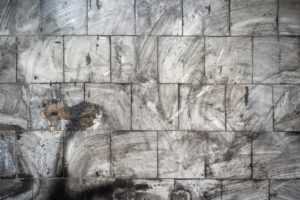 ashes on walls